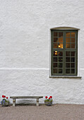 Bench outside window
