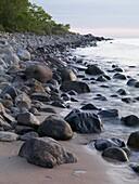 Rocky shore, osterlen, Skane, Sweden
