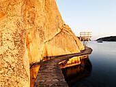 Bridgedeck on cliff, Bohuslan, Sweden