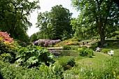 Sofiero castle's garden, Skane, Sweden