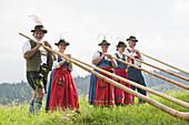 Summer Festival, Kreut Alp, Grossweil, Upper Bavaria, Germany