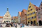 Market square in Rothenburg, Rothenburg ob der Tauber, Bavaria, Germany