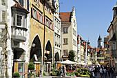 Street in Lindau, lake Constance, Bavaria, Germany