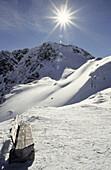 Mountainous landscape in Winter, Wenns, Jerzens, Pitztal, Tyrol, Austria