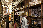 Dehillerin, people inside famous shop for kitchen equipment, Paris, France, Europe