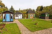 Garden shed, German Allotment Gardener`s Museum, Leipzig, Saxony, Germany