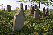 Grave stones in a Jewish cemetery, Seesen, Lower Saxony, Germany