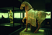 Antique horse statue at National Palace Museum, Taipei, Taiwan, Asia