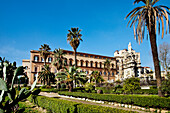 View of the Palazzo Reale, Palermo, Sicily, Italy