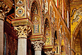 Mosaic, Cathedral, Monreale, Palermo, Sicily, Italy
