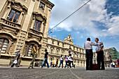 Piazza Universita, Catania, Sicily, Italy