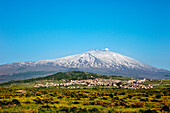 View of Maletto, Mount Etna, Sicily, Italy
