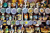 Pottery, Santa Maria, Salina Island, Aeolian islands, Sicily, Italy