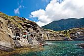 Crater bay, Pollara, Salina Island, Aeolian islands, Sicily, Italy