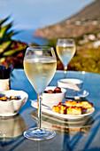Prosecco, Hotel Signum, Malfa, Salina Island, Aeolian islands, Sicily, Italy