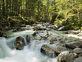 Ramsauer Ache, Ramsau, Berchtesgadener Land, Bavaria, Germany