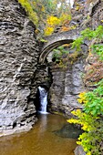 Sentry Bridge at Watkins Glen State Park Finger Lakes Region New York Lake Seneca