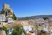Arab castle  12th century), Olvera. White Towns of Andalusia, Cadiz province, Andalusia, Spain