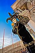Europa, Harlekin, Italien, Karneval, Maske, San Giorgio Maggiore, Venedig, Venetien, Veneto, N64-961757, agefotostock