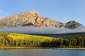 Pyramid Mountain and Pyramid Lake, Jasper National Park, Rocky Mountains, Alberta, Canada