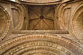 Front door of San Vcente´s Basilica, in romanesque style of XII Century  Avila city  World Heritage City  Castilla y León, Spain