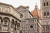 The Baptistry, Duomo and Campanile are the most famous landmarks in Florence Italy