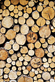 Italy, Valle Aosta, Stored Wood