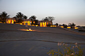Houses at night, The Oberoi Sahl Hasheesh, Egypt