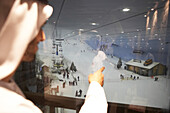 View in the skihall of Ski Dubai, Dubai, United Arab Emirates