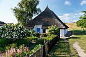 Picturesque Pastor's Widow House, Gross Zicker, Moenchgut, Ruegen, Mecklenburg-Western Pomerania, Germany, Europe