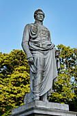 Fürst Wilhelm Malte I., Malte Denkmal im Schlosspark Putbus, Rügen, Mecklenburg-Vorpommern, Deutschland, Europa