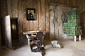 Lutherstube Luther Room in Wartburg medieval castle, Eisenach, Thuringia, Germany, Europe