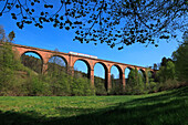 Railway viaduct, near Erbach, Odenwald, Hesse, Germany