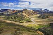 Mountain slopes, Landmannalaugar, Fjallabak Nature Reserve, Central Iceland