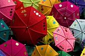April 2009, China´s Luoyang City, Henan Province, the traditional manual umbrella