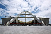 Main entrance to the new, modern stadium for the 2010 World Cup  Durban, Kwazulu Natal, South Africa