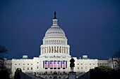 Washington, DC - The US Capitol building on the evening of the inauguration of Barack Obama  © Jim West