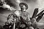 Farmer carrying artichoke  Spain