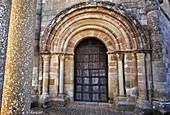 Detail of arch, Romanesque church of Santa María de Eunate, 12th century  Road to Santiago, Navarre  Spain