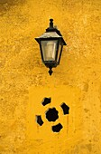 Street lamp in a house of Minorca  Balearic islands  Spain