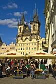 Old Town square in Prague Czech Republic EU