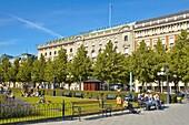 Karl XIIs Torg square in central Stockholm Sweden EU