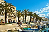 Seaside boulevard in Split Croatia Europe