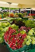 Fresh produce at the main market in Ljubljana Slovenia Europe