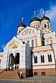 Aleksander Nevski katedraal the Alexander Nevsky cathedral Toompea hill in Tallinn Estonia Europe