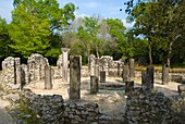 Ruins of the Baptistery in ancient Butrint Albania Europe