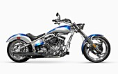 Shiny chopper  Customized motorcycle  Isolated on white background with clipping path