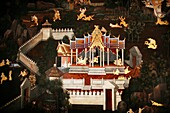 A painting with dark and light contrast from the Grand Palace complex near Bangkok