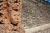 Toniná Maya Ruins archaeology site, Chiapas Mexico