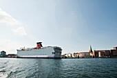 Ferry in harbor, Kiel, Schleswig-Holstein, Germany